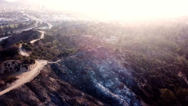 vidéos et rushes de vidéo 4k de l'incendie de forêt en californie - desastre natural