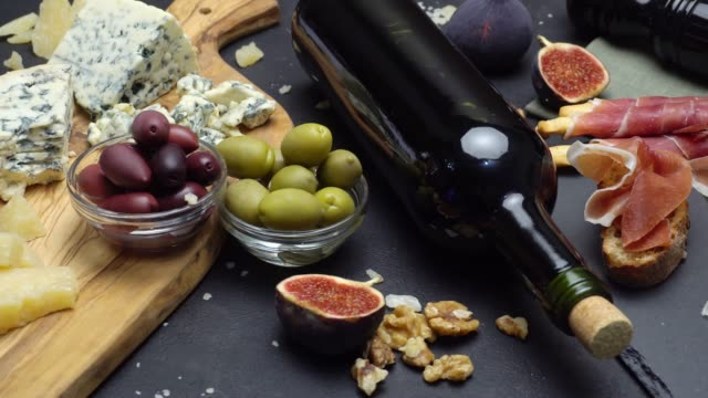 Video of Traditional italian food and wine video