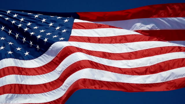 Video of United States flag in slow motion video