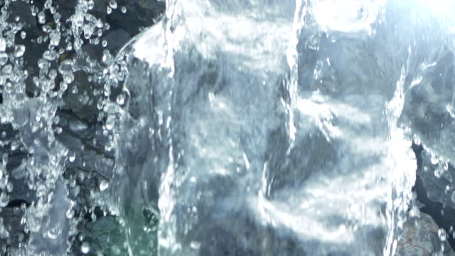 video of waterfall in real slow motion - origini video stock e b–roll