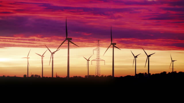 Video of windmills at the sunset in 4K High quality video of windmills at the sunset in 4K renewable energy stock videos & royalty-free footage