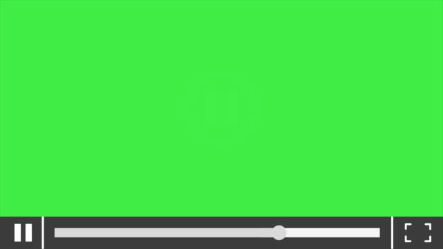 Video player motion 4k video. Hand presses play button