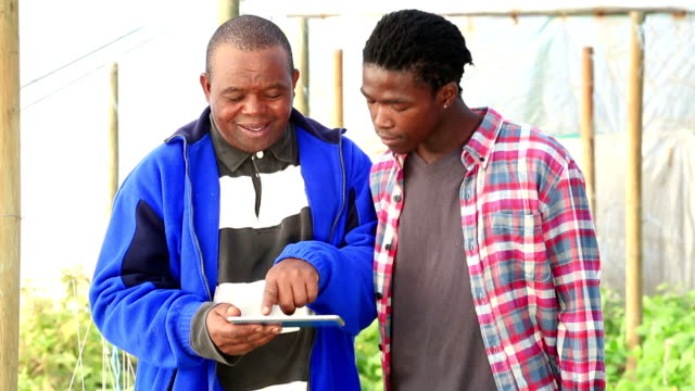 Video portrait  African Organic Farmers with New technology video