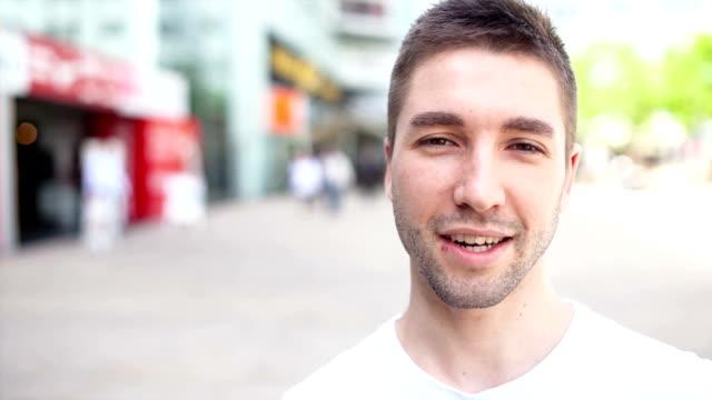 Video portrait of a confident man video