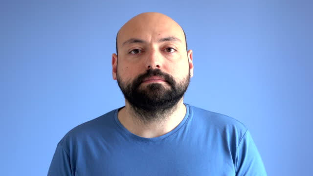 UHD Video Portrait Of Adult Man With Blank Expression video