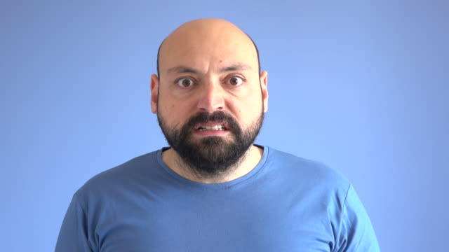 UHD Video Portrait Of Angry Adult Man video