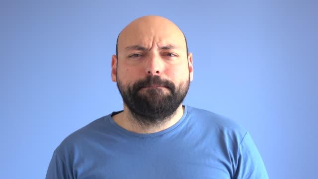 UHD Video Portrait Of Enjoying And Dancing Adult Man video
