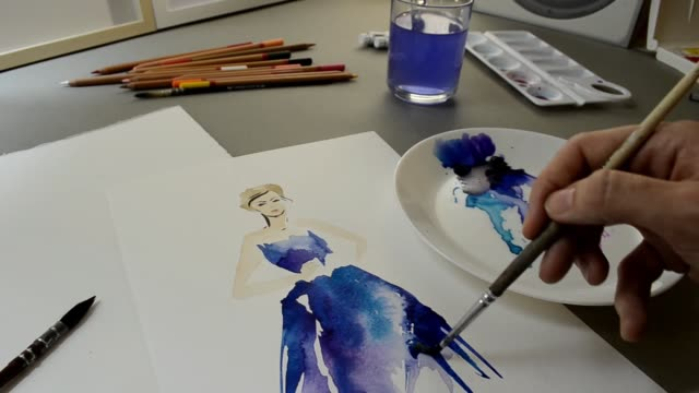 223 Colour Pencil Sketches Stock Videos And Royalty Free Footage Istock
