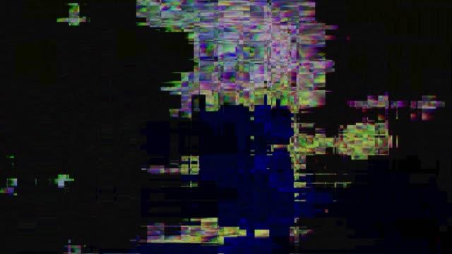 ビデオ録画のエラーです。ライブ ブロードキャストのグリッチ - 木目のビデオ点の映像素材/bロール
