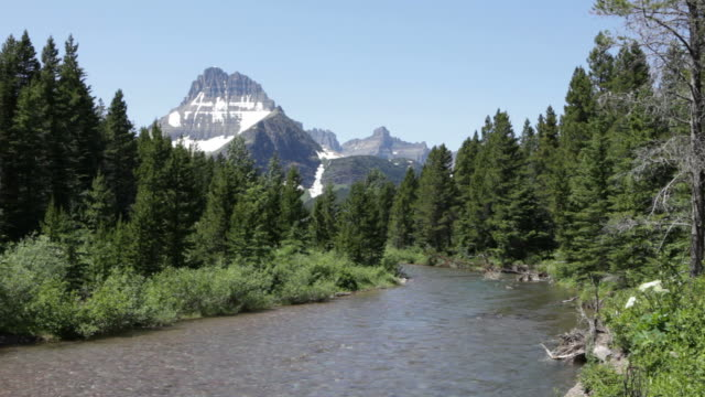 HD video Swiftcurrent Creek and Garden Wall Glacier National Park video