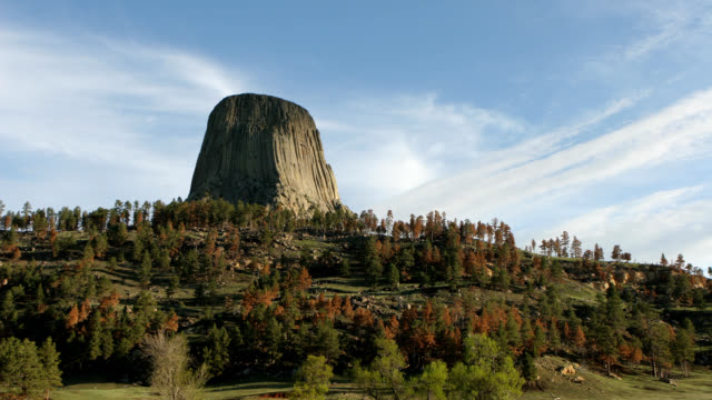 HD video time lapse Devils Tower Wyoming