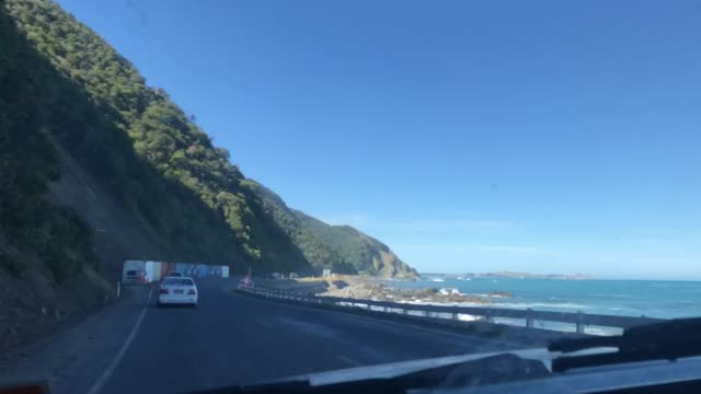 Video Time-lapse road trip from Christchurch towards Kaikoura, New Zealand video