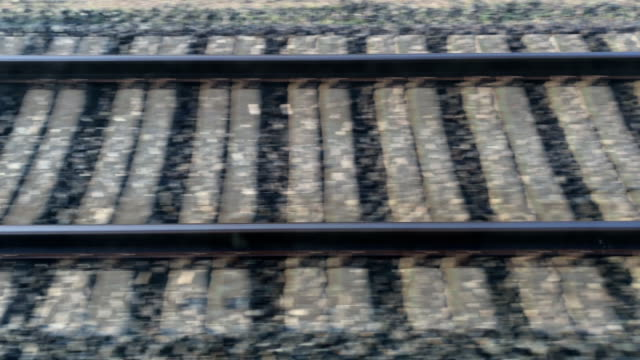 Video view on railway tracks Video view on railway tracks fork stock videos & royalty-free footage