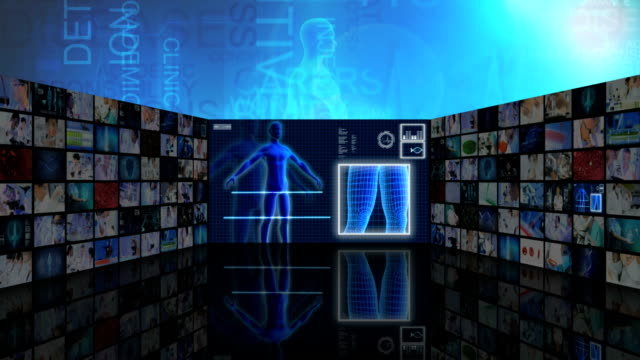3D video wall Chinese medical scientist 3D technology research video