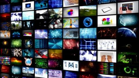 vídeos y material grabado en eventos de stock de pared de vídeo. lateral y alto. en bucle. - corte transversal