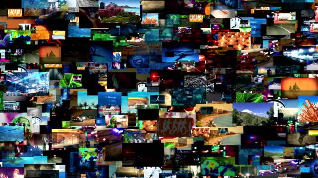 Video Wall Media Montage (Loop) video