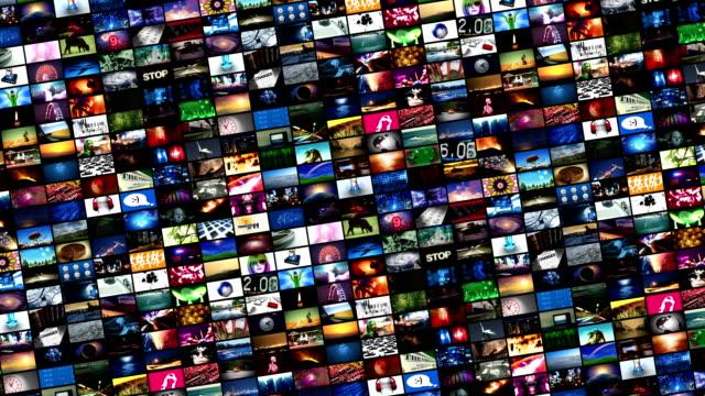 video montaggio a muro (loop - composizione video stock e b–roll