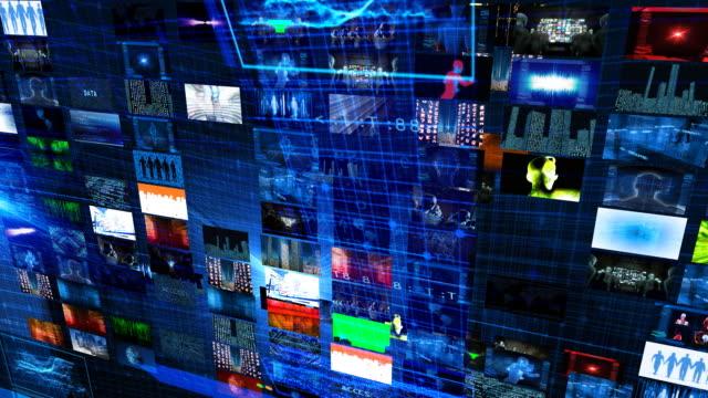 video wall technologie grid - fülle stock-videos und b-roll-filmmaterial