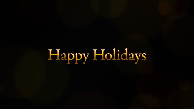 video with the word happy holidays in it. - happy holidays стоковые видео и кадры b-roll