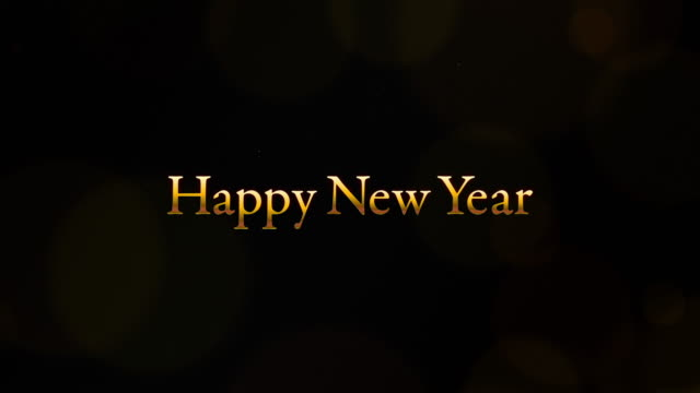 vídeos de stock e filmes b-roll de video with the word happy new year in it. - japanese font