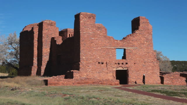 HD video woman explores Quarai Ruins Salinas Pueblo Missions video