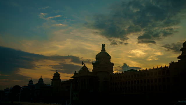 Vidhana Soudha - Bangalore India Day to Night Timelapse video
