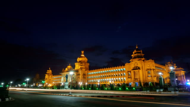 Vidhana Soudha - Bangalore India Night Timelapse video