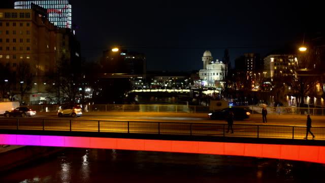 Vienna with bridge, Panning video