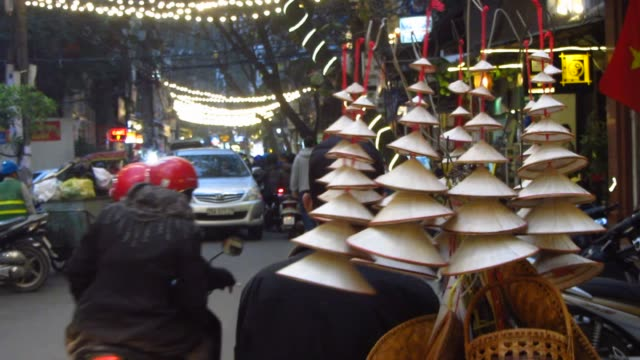 Vietnamese Vendor Selling Vietnamese Style Conical Hats video