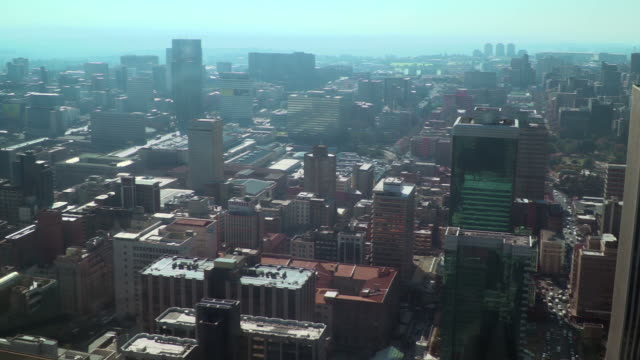 View across downtown johannnesburg, south africa video