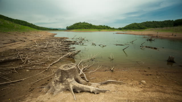 View beautiful lake, Thailand video