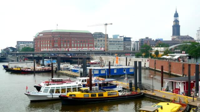 View city train aerial video