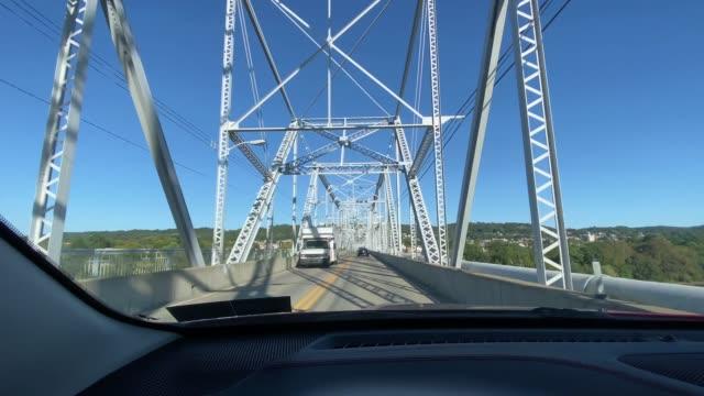 View Driving Across Bridge video