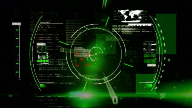 sucher in einer digitalen schnittstelle mit programmcodes anzeigen - zielscheibe stock-videos und b-roll-filmmaterial