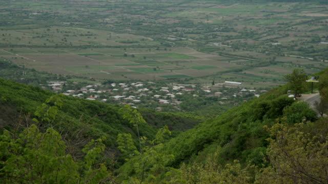 View form mountain on Alazani valley Georgia