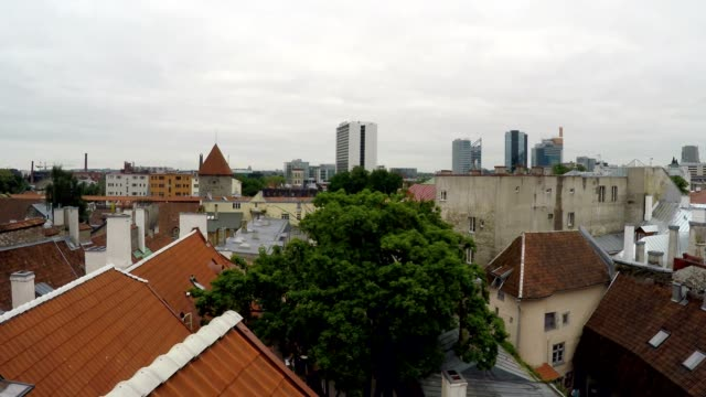 View from a house dormer-window in the old city to Tallinn, Estonia View from a house dormer-window in the old city to Tallinn, Estonia, dormir stock videos & royalty-free footage