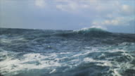 istock View from a sailing boat of a rough stormy sea: in the ocean during a gale 1253199756