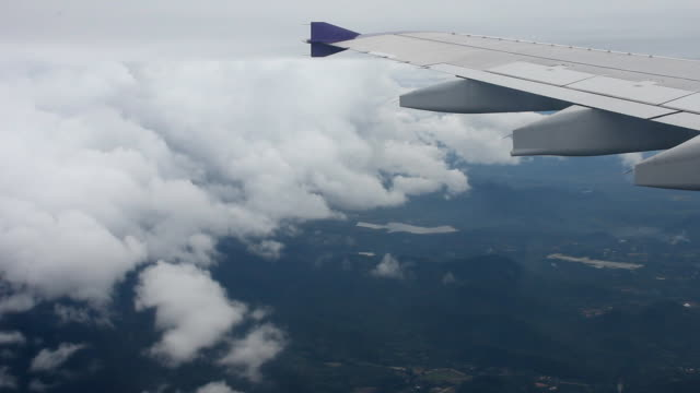 View from Airplane wing video