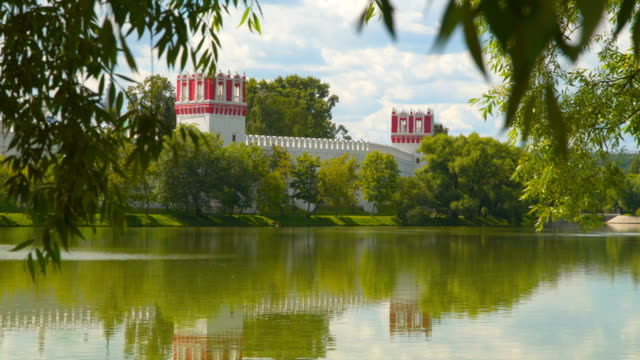 View from behind the trees at Novodevichy Convent video