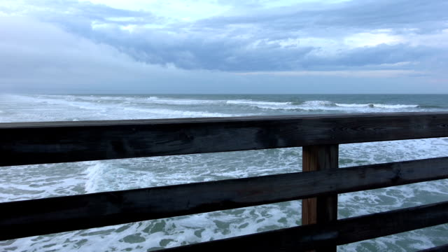 View from Daytona pier over the Atlantic Ocean video