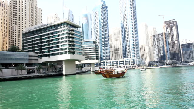 View from Dubai Marina video