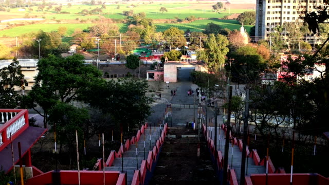 View from Gommatagiri Digambar Jain Temple, Indore, India video