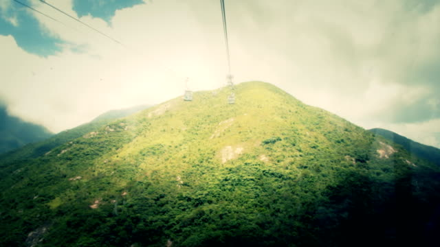 View From Inside Of Cable Car Cabin video