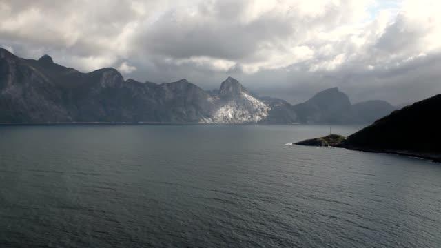 View from Knuten peak on Segla mountain video