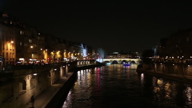 View from Pont Neuf bridge at night