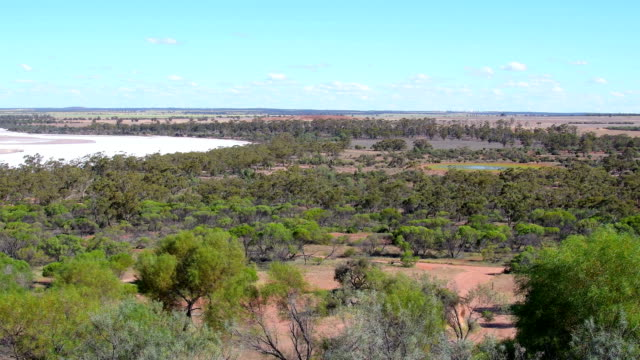view from rock formation eaglestone rock over the scrubland in the wheatbelt. western australia - western australia stock videos & royalty-free footage