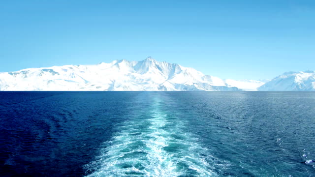 View From Ship In Frozen Landscape video