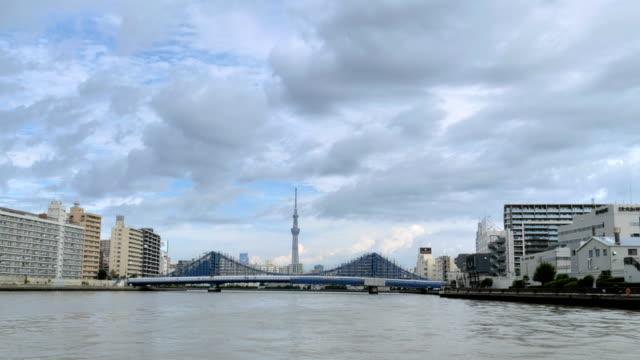 クルージングしながら東京の大運河からの眺め ビデオ