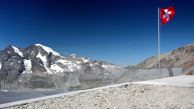 View from the Diavolezza to the mountains and glaciers video