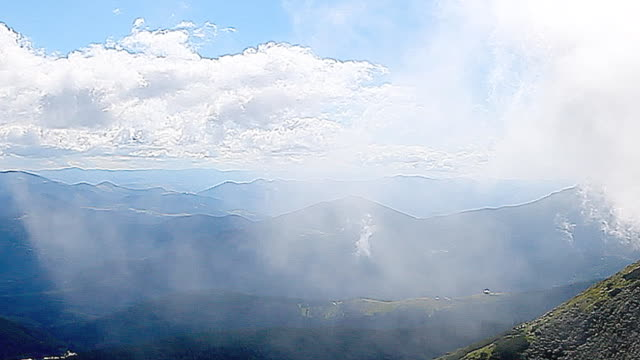 view from the top of Carpathian Mountains video